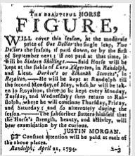 spooner's, 4-28-1794, justin morgan